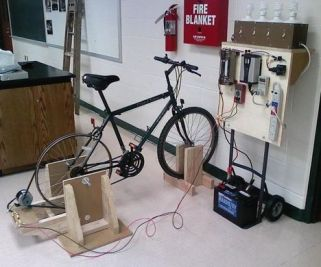bike and electricity production
