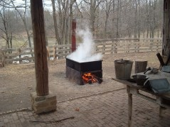 firewood boil down of sap