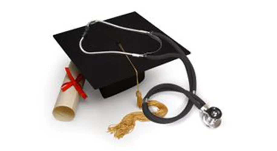 Graduation Cap and Stethoscope