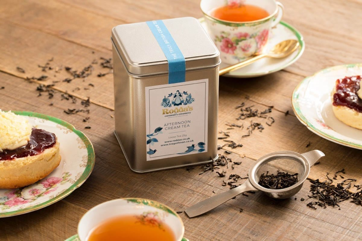 A Tin of out Special Roddas Afternoon Cream Tea made in Collaboration with Rodda's.