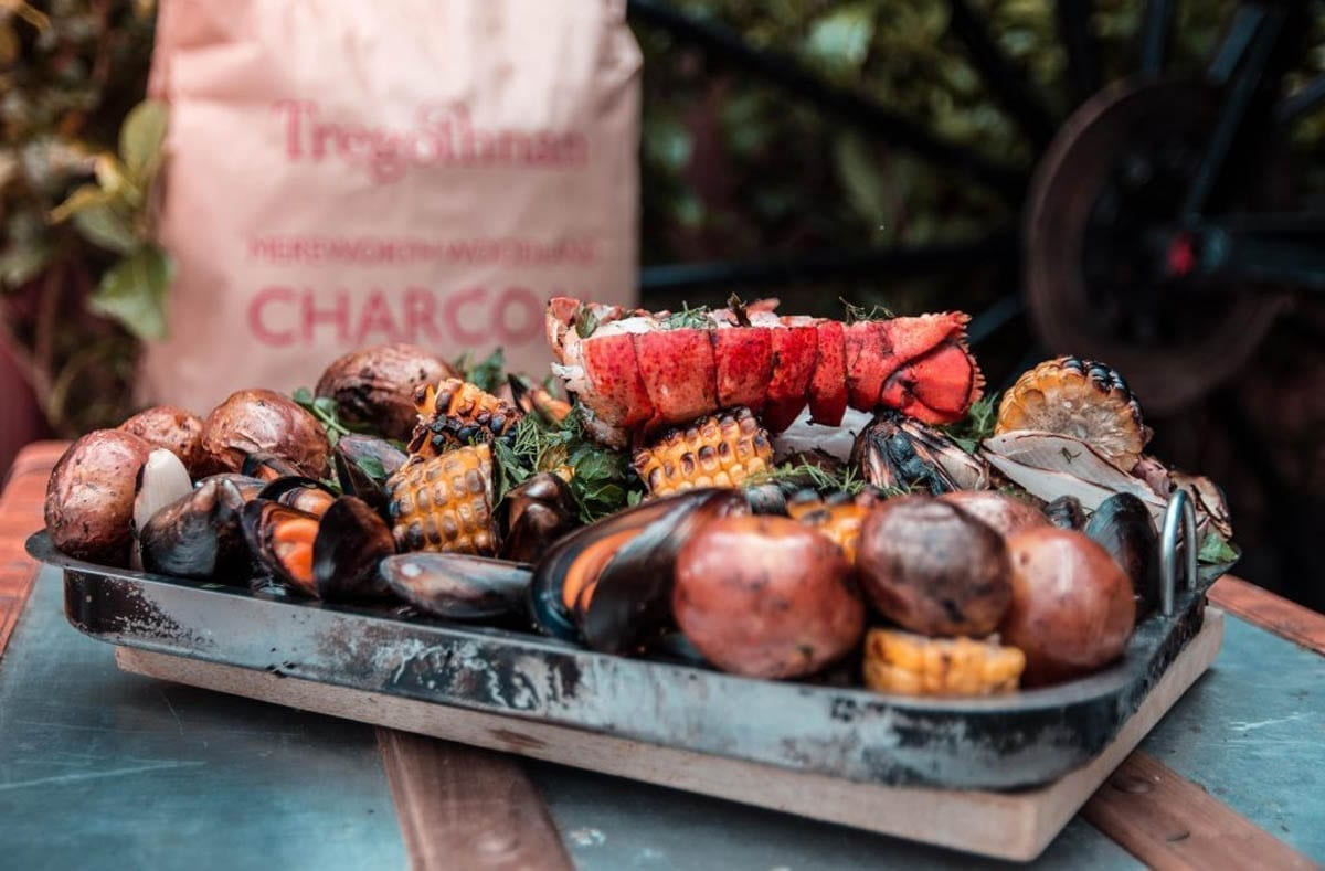 A mix of Cornish produce cooked to perfection in this Beautiful Cornish Clam Bake