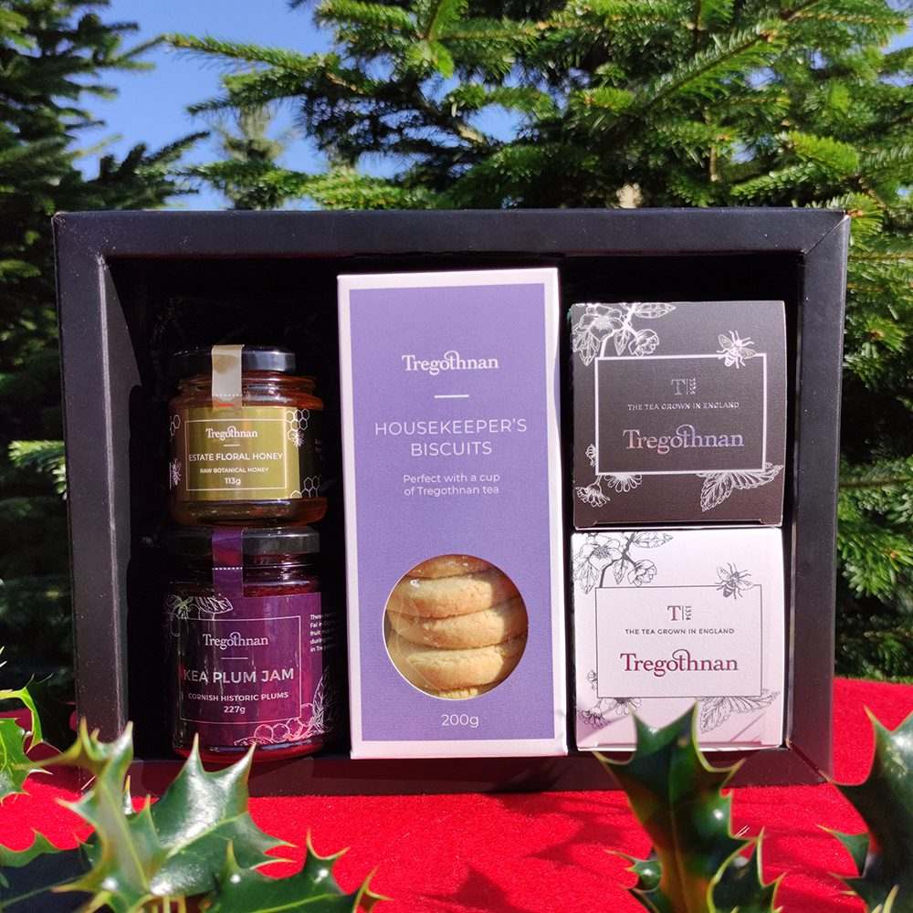 Estate selection gift set on a red background