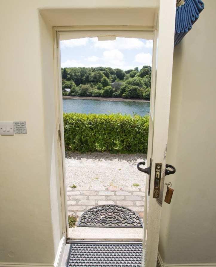 Penjerrick Cottage Front Door View