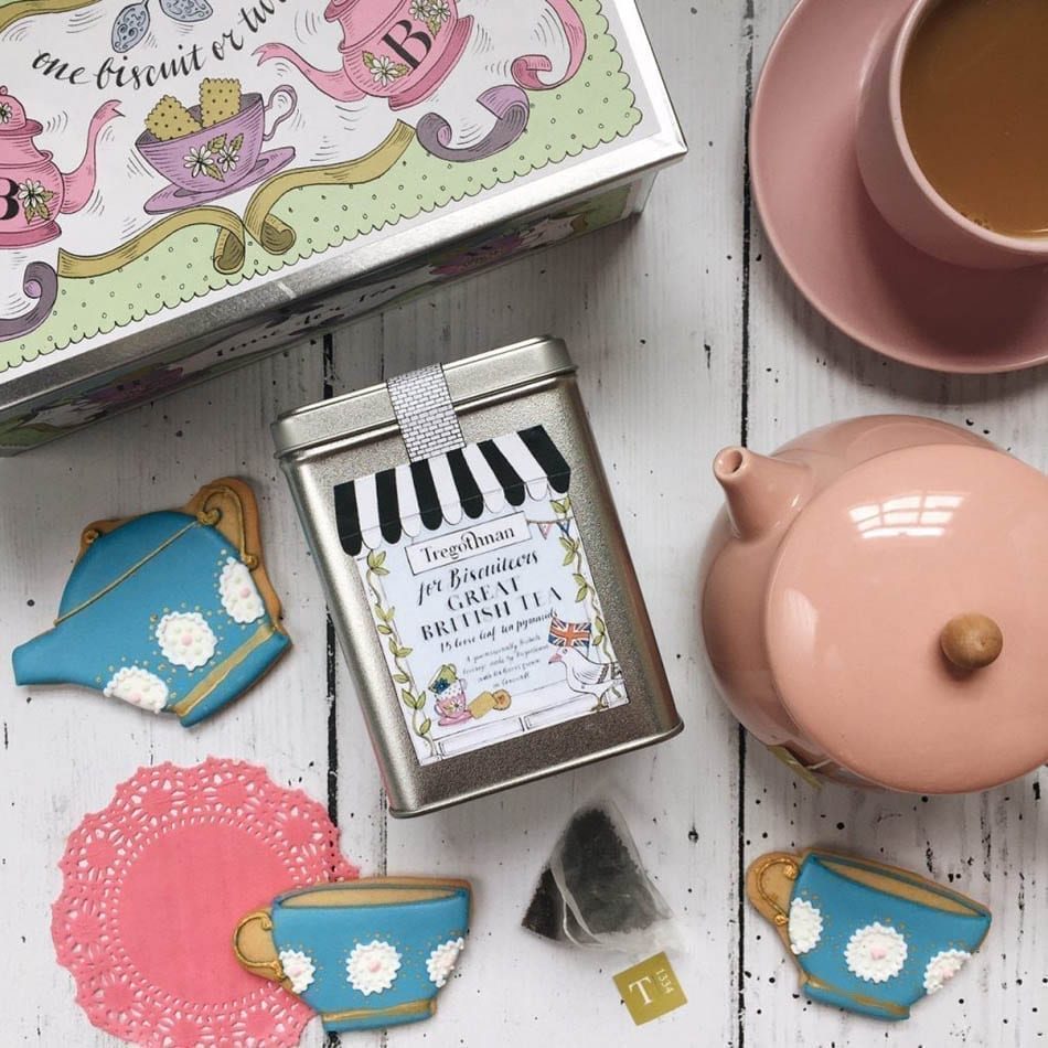 A delightful spread of Tea and Biscuits in collaboration with Biscuiteers