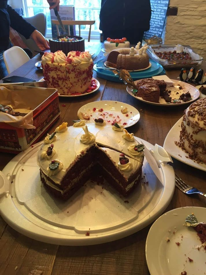 The array of cakes was as mouthwatering including a Red Velvet cake