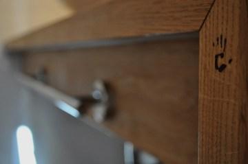 Beispiel für ein Badezimmer, bei dem Holz als Material verwendet wurde