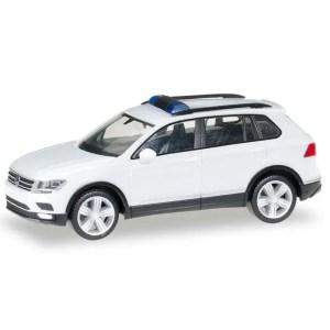 Product afbeelding VW Tiguan wit met blauwe zwaailichten