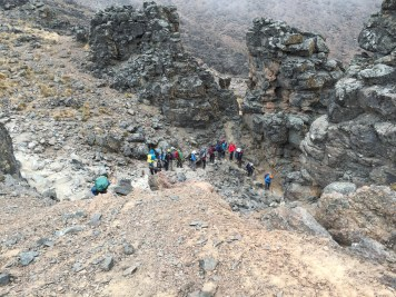 The route down from Lava Tower