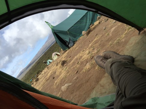 Shira 1 Camp - View from my Tent