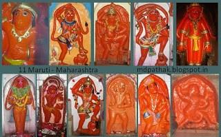 11 Maruti temples akara hanuman darshan, India