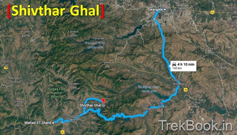 mumbai pune to Shivtharghal map