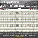 pune lonawala local timetable
