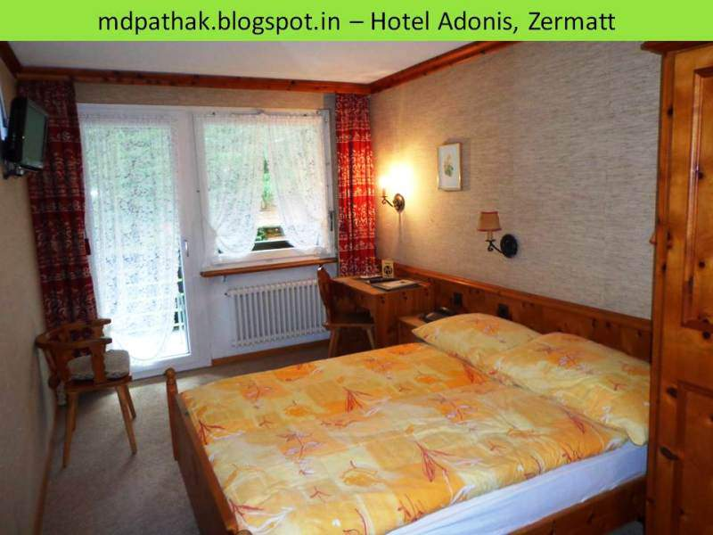Hotel Adonis Zermatt Switzerland room interior