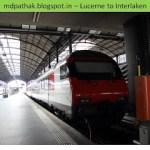 Switzerland 13 – Golden pass – Lucerne to Interlaken