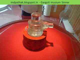 Shivlinga carved out of clear quartz