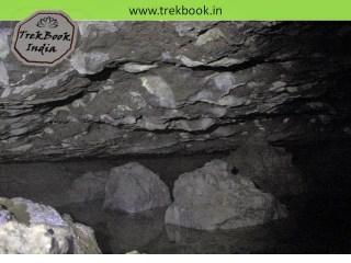 inside caves of Kalyangad Fort, Nandgiri Village, Satara