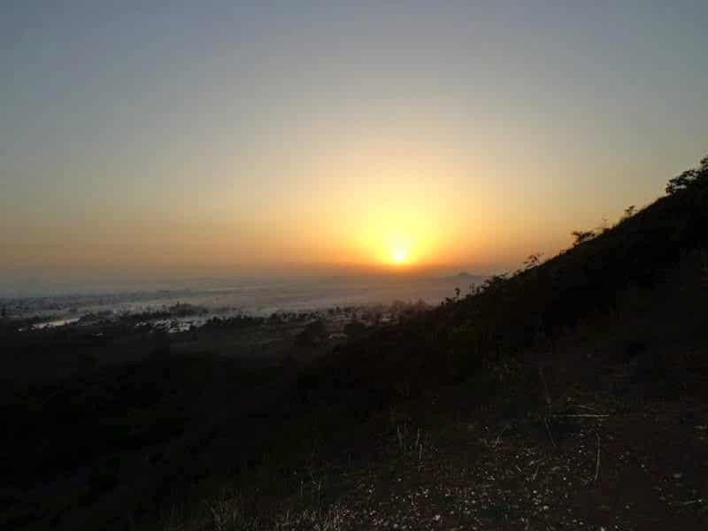 sunrise from ghorawadeshwar