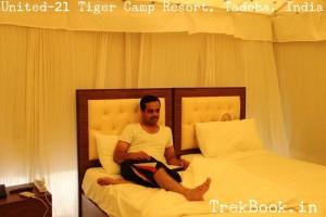 Room interior United-21 Tiger Camp Resort, Tadoba, India