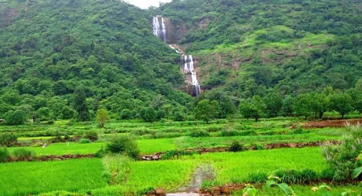 3 tiered waterfall near pune lonavala kanhe phata