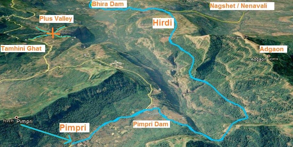 andharban trek map pimpri bhira dam