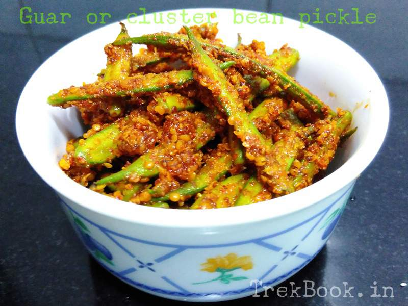 Guar or cluster bean pickle recipe