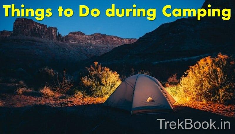 things to do during night camping near pune mumbai