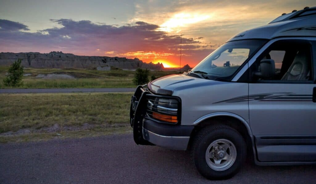 2008 Roadtrek 190 Popular 4x4 with Badlands sunset