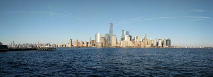 New York skyline and Hudson River