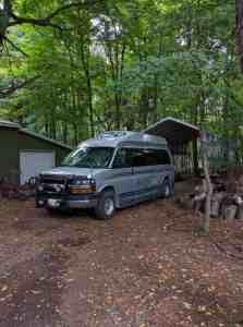campervan in driveway