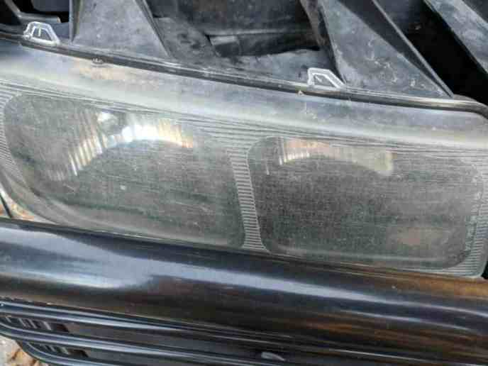 scratched Chevrolet headlight