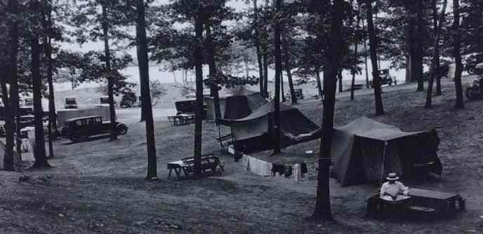 Historic camping photo from Michigan
