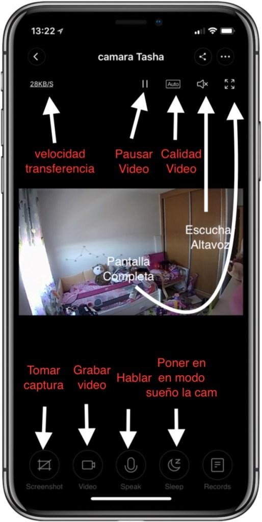 Descripción de la pantalla