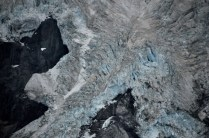 Blue ice of the Heddleston Glacier