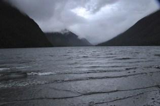 Lake Gunn in rain