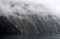 Waterfalls and cruise ship