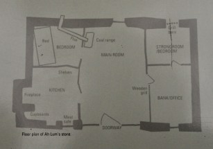 Floor plan of Ah Lum's Store