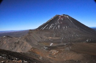 Looking back from the hike up Mt. Tongariro