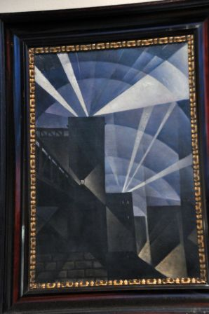 Christopher Nevinson, The First Searchlights at Charing Cross, 1915