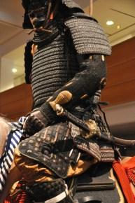 Detail of samurai lamellar armor