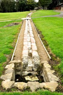 Stone conduits for delivering water