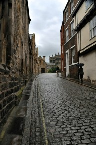 A Durham street leading to its cathedral
