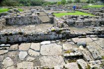 Ruins of Roman fort buildings
