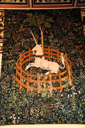 A tapestry copy from The Hunt of the Unicorn