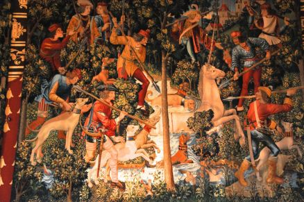 Another tapestry copy from The Hunt of the Unicorn