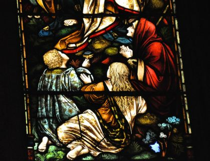 Detail of the central panel of the Caswell Window