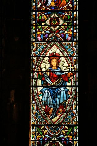 Detail of the O'Brien Memorial Window, right panel, center