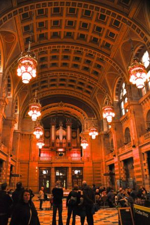 Inside the Kelvingrove Art Gallery and Museum