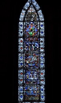 One of the lower windows from the south transept