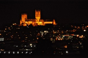 Night view from the south; too bad it's not in focus!