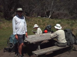 Lunch near Dibbins Hut on the AAWT